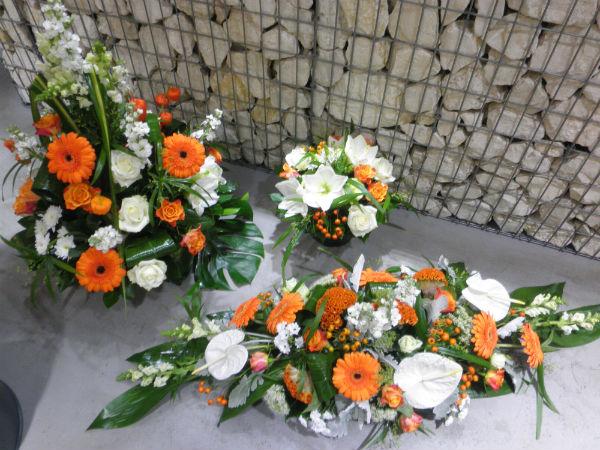 Bien-aimé Composition gerbe de fleurs pour enterrement à Craponne - Craponne  OS61